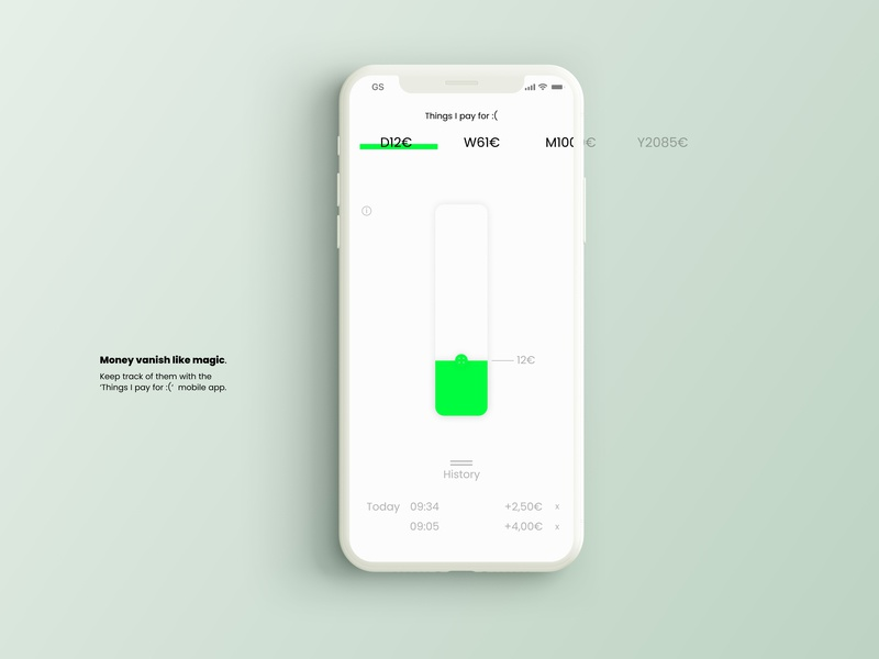 Things I pay for :(  - Expense Tracking App 1/2 thingsipayfor:( 100dayuichallenge dailyuichallenge monthly yearly weekly daily track expenses tracker expense dailycalculator calculator dailyui004 design app mobile app design dailyui 100dayproject 100daychallenge
