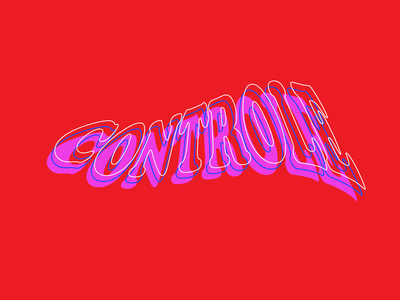 controle color type controle ctrl control psychedelic illustrator logo vector design typography lettering