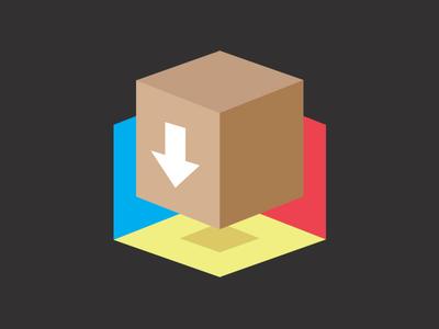 Logo Concept illustration concept brand. logo box