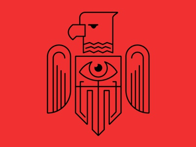 Eagle line art eagle bird america big brother illustration concept