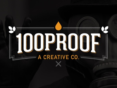 100 Proof Dribbble - Final Revision logo brand vintage typography