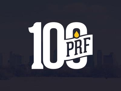 100 Proof logo concept logo brand illustration 100 drop austin typography number