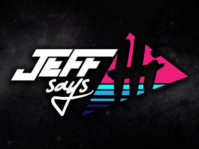 Jeff Says Hi logo brand illustration typography 80s retro