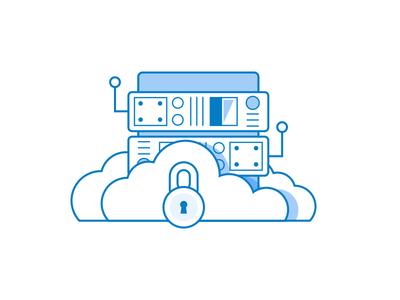 Cloud Server Icon icon