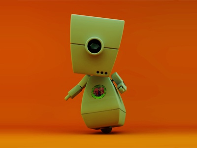 MILGbot c4d model 3d animation character icon mograph