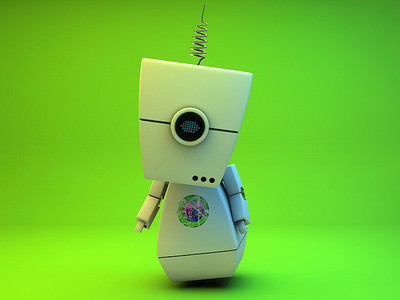 Lime Bot 3d animation cinema 4d robot character