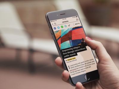 News app UI design