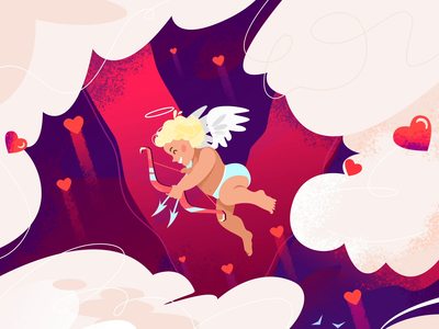 Valentine's Day Animation shakuro after effects illustration saint valentines day animation