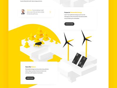 Renewable Energy Company Website Design shakuro 3d illustration ux ui solar power renewable energy landing page web design web illustration