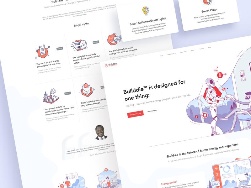 Builddie product design web design website homepage