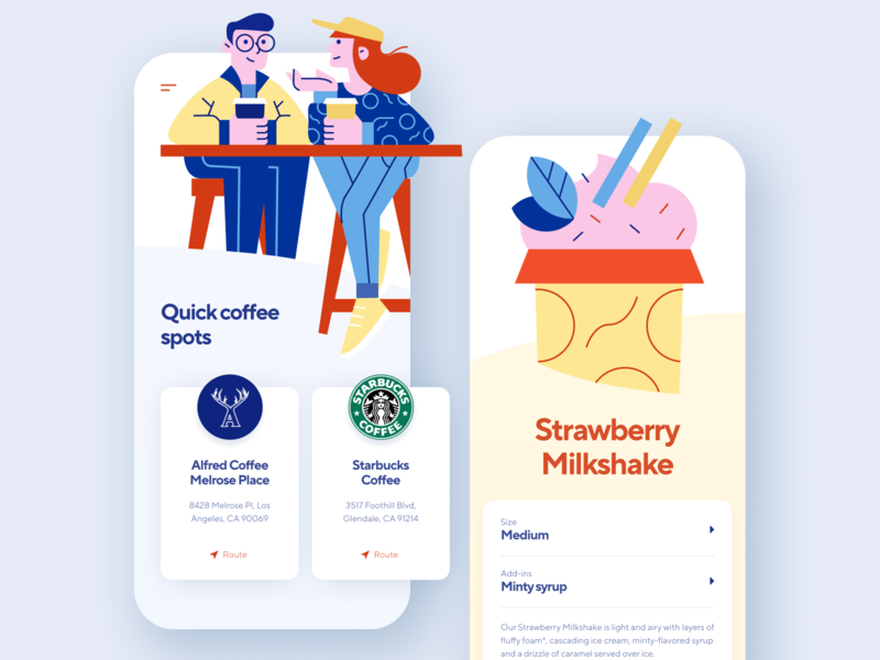 Coffee Shop App mobile ui mobile interface mobile app design ios app illustration ux ui mobile illustration mobile app shakuro