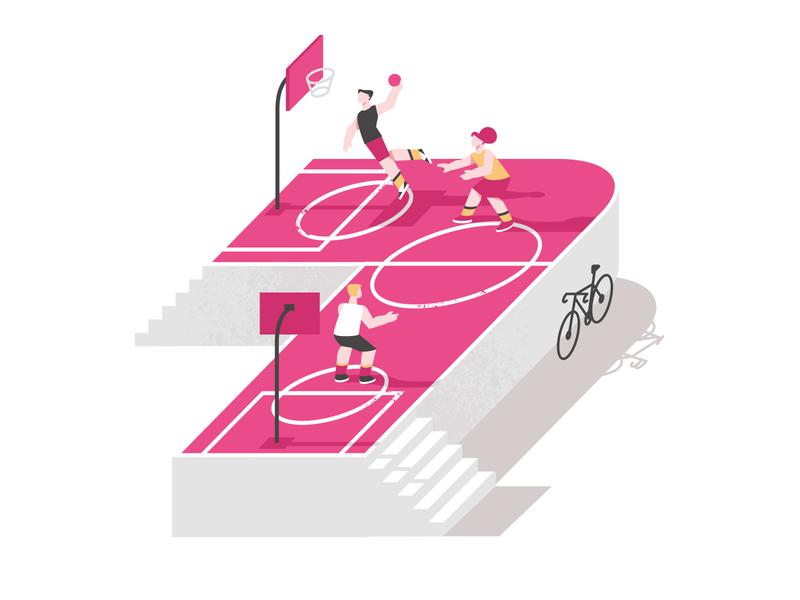 7 Years on Dribbble design vector shakuro illustrator illustrations illustration art followers dribbble basketball illustration