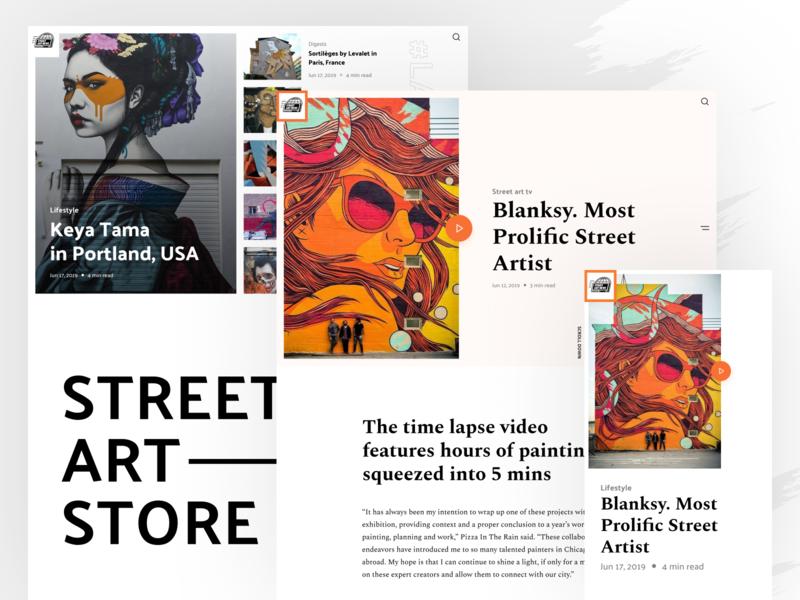 StreetArtNews Website Design product design homepage news site news web design web website shakuro design ux ui