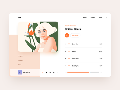Music Website Design illustrations product design website design interface app shakuro music web design website web ux ui design