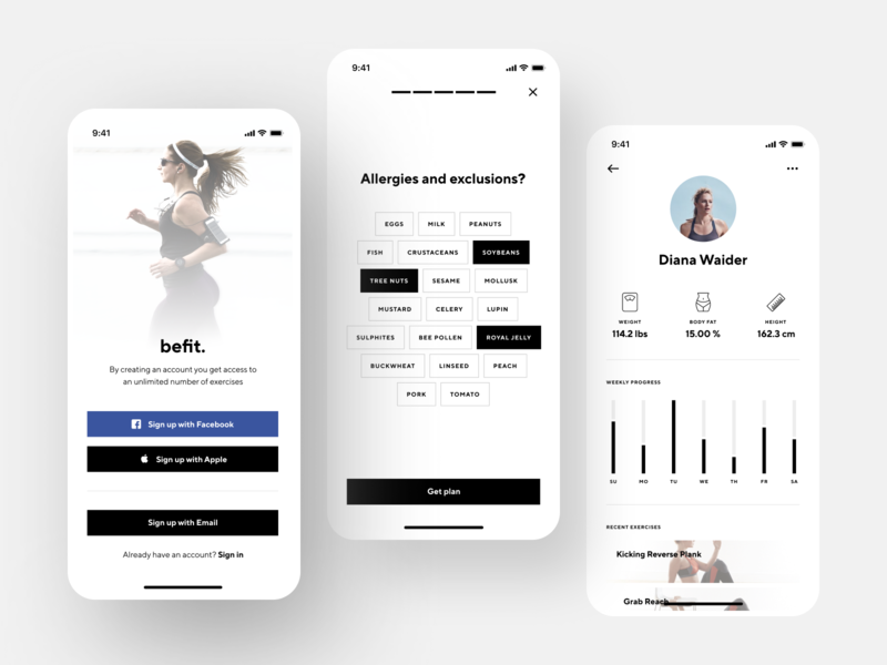 Fitness App Design running profile interface workout health gym clean activity activity tracking training sport fitness app fitness app design shakuro ios ux ui