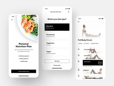 Fitness App Interface health food training health activity tracking gym interface workout activity sport mobile fitness fitness app design ios shakuro app ux ui