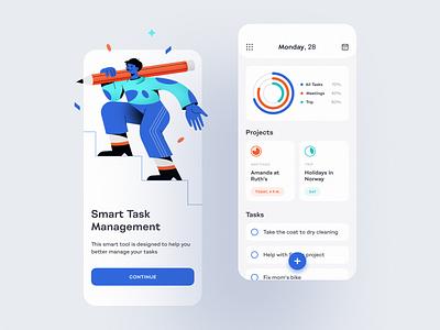To-Do List App design todolist task management app task management task list tasks to do list to do app task manager mobile app app design management mobile app design concept shakuro ios app ux ui
