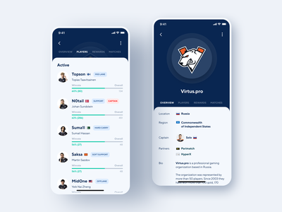 Cybersport Portal App broadcasting news gaming app game minimal sport gaming platform portal cybersport design app mobile design concept illustration shakuro ios app ux ui