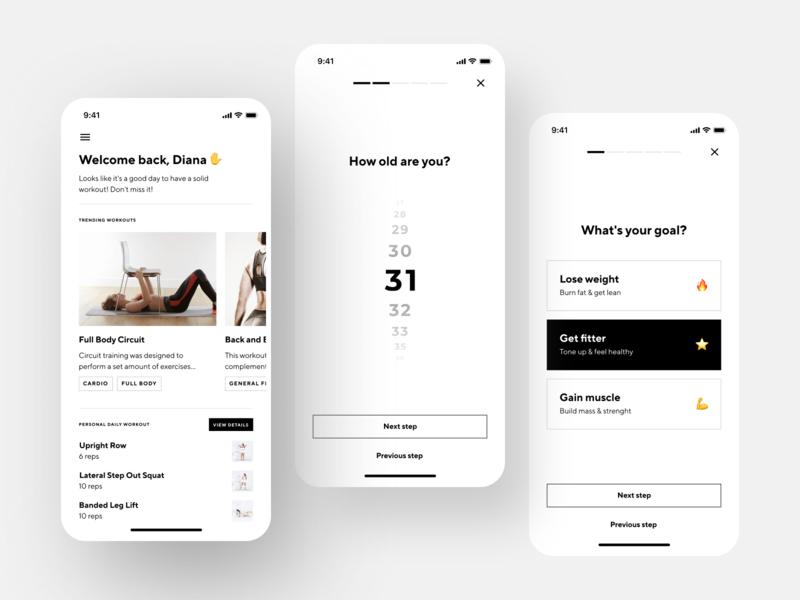 Fitness App workout training sport interface health gym fitness app fitness activity tracking activity mobile app design mobile app design app mobile design shakuro ios app ux ui