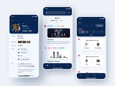 Cybersport Portal App Design sport portal platform minimal game gaming app gaming design app broadcasting cybersport app design mobile app mobile design shakuro ios app ux ui