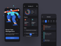 To-Do List App — Dark Theme todolist to do app tasks task manager task management app task management task list mobile app design mobile app management app design mobile concept design illustration shakuro ios app ux ui