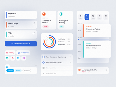 To-Do List App UI interface clean minimal to do list todolist to do app tasks task manager task management app task management task list mobile app management app design mobile design shakuro app ux ui