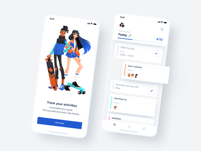 An App For Forming Healthy Habits graphics todolist management to do app healthy habits mobile ui interface mobile interface mobile app app design application mobile design illustration shakuro ios app ux ui