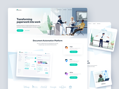 Documo Website Design user interface interface automation platform page design welcome screen landing website design paperless home page landing page homepage platform web design website design web illustration shakuro ux ui