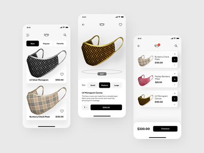 Mask Shop App ecommerce app product page shopping app ecommerce application shop masks mask iphone home page mobile concept design ios shakuro app ux ui