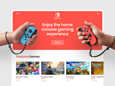 Console eStore user interface interface page design page welcome screen landing landingpage nintendo switch website design product page eshop nintendo home page web design website design web shakuro ux ui