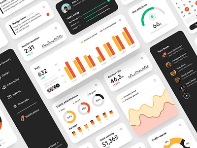 Digital Marketing Dashboard dashboard ui web app web design marketing site marketing campaign analytics stats tools advertising platform marketing digital marketing dashboard website web design app shakuro ux ui