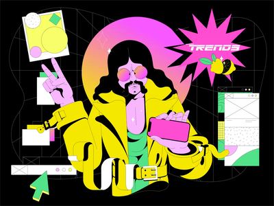 2021 Design Trends Animated Illustration designer neon news trends 2021 2021 trend 2021 trend design trend motiongraphics motion motion design design vector animation illustration shakuro ux ui