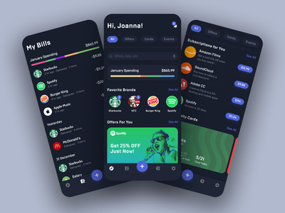 Billeasy App finances banking user interface mobile interface application finance app finance financial assistant app design financial startup interface mobile design ios shakuro app ux ui