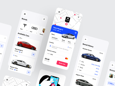 Rent-a-Car App minimal clean ios app mobile ui mobile app application rent a car rent rental app userinterface app design interface concept mobile design ios shakuro app ux ui