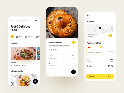 Food App lunch dinner ordering app food and drink delivery app delivery service delivery food app food iphone home page interface concept mobile design ios app shakuro ux ui