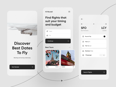 Air Ticket App mobile ui application air ticket flight app flights planning app design ticket app ticket air trip adventure interface mobile design ios app shakuro ux ui
