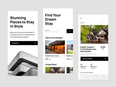 Vacation Rental App house rent rental clean minimal app design stay relaxation houses ui design locales vacation rental app userinterface interface design mobile app shakuro ux ui