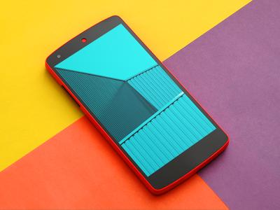 Free Nexus 5 mockup from Shakuro