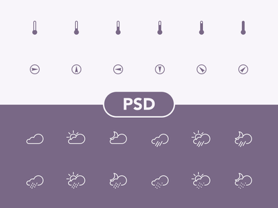 Weather Icons sun icon icons rain psd outline free freebies cloud shakuro weather