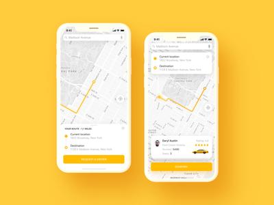 Taxi App Ui