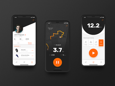 Mi Fit Redesign Concept activity profile tracker tracking running run wearable lifestyle app iphone x xiaomi fit