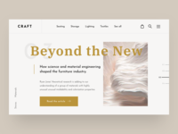 CRAFT Furniture Store Concept Stories Page