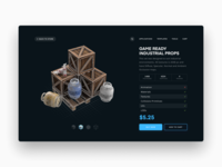 Video Game Asset Product Page