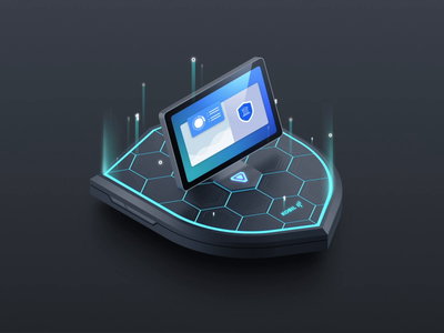 Identity Security Animation 3d animated interface lights beams particles glow after effects ui desktop animation software data product branding video security animation web animation illustration animated illustration motion design