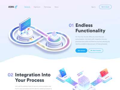 Continuous Work Illustration tablet desktop system ux ui logo layers illustrator illustration identity icon data protection home page landing page security design web branding app art