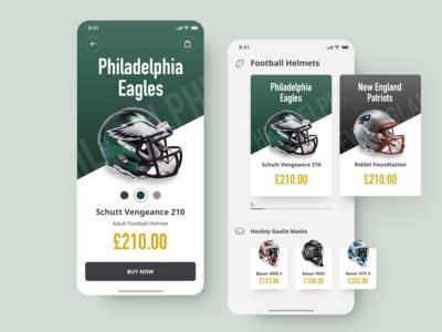 NFL Helmet Mobile Store Concept