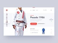 Jiu-Jitsu Kimono Product Page Concept