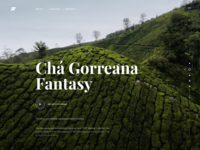 Tea Manufacturer Website Concept