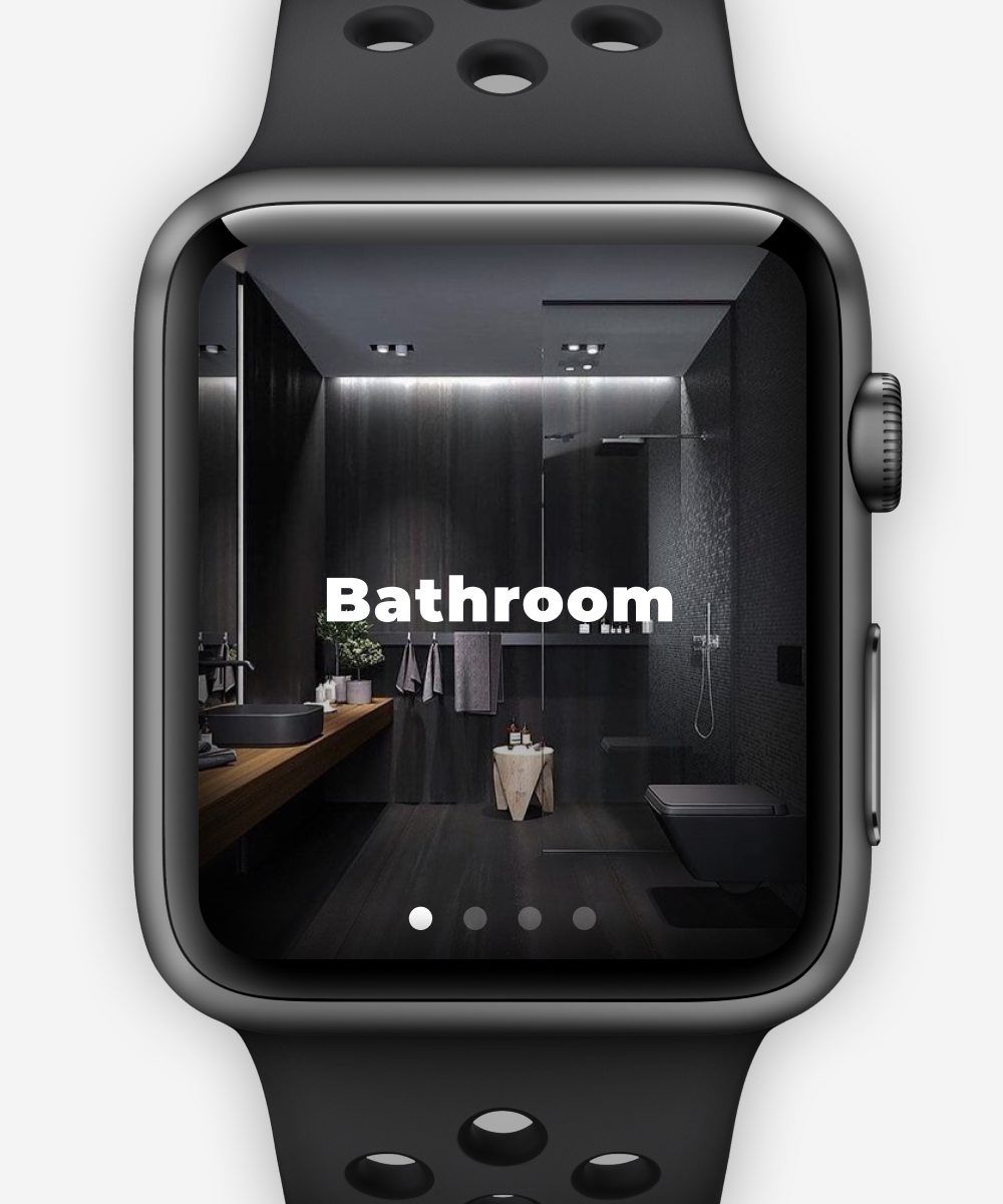 Smart watch home page