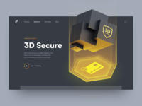 Payment Protection Technology Page web page card payment protection service app protection landing page home page identity isometric digital data protection illustration ux ui technology website web security payment 3d